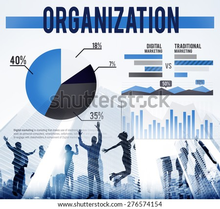 Organization Company Business Group Management Concept - stock photo