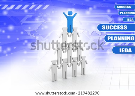 Organization Hierarchy  - stock photo