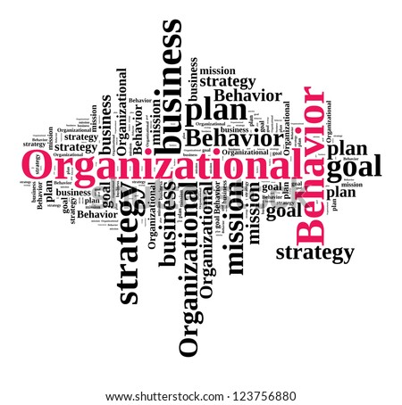 Organizational Behavior in word cloud - stock photo