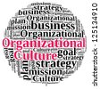 Organizational Culture in word cloud - stock vector