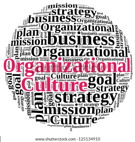 Organizational Culture in word cloud - stock photo