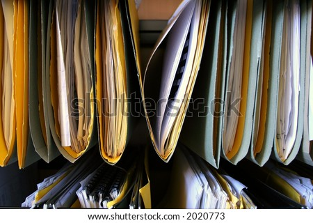 Organized files representing records management - stock photo