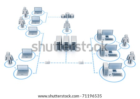 Organized network - stock photo