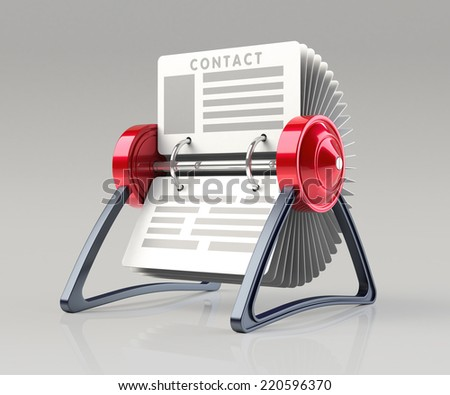 Organizer Isolated on a White Background. 3D Rendering - stock photo
