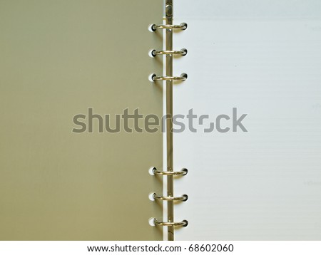 Organizer's pages with binder for background - stock photo
