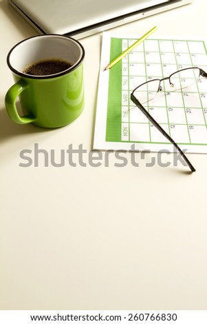 Organizing business and personal tasks and meetings   - stock photo