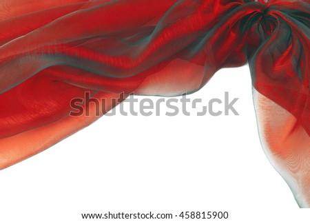 organza fabric texture border frame background - stock photo