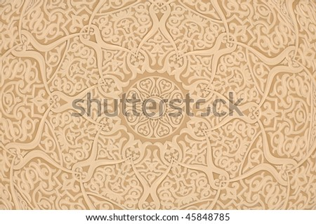 Oriental arabic decoration background