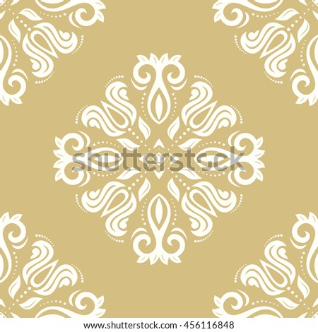Oriental classic ornament. Seamless abstract background with repeating elements.