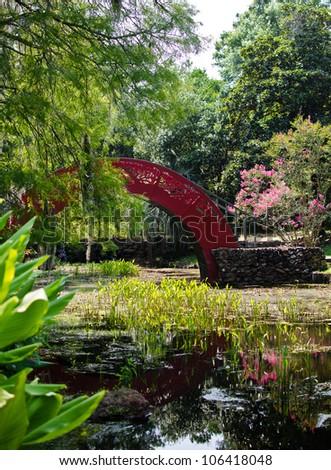 Oriental Gardens - stock photo