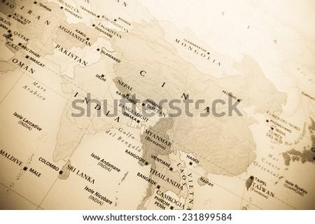 Oriental map - stock photo