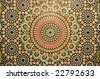 Oriental mosaic decoration in Morocco - stock photo