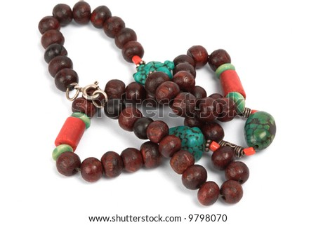 Oriental necklace, isolated