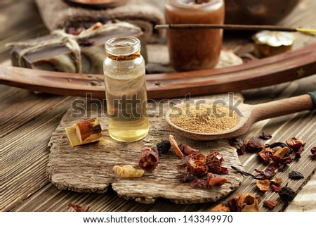 Oriental spa - stock photo