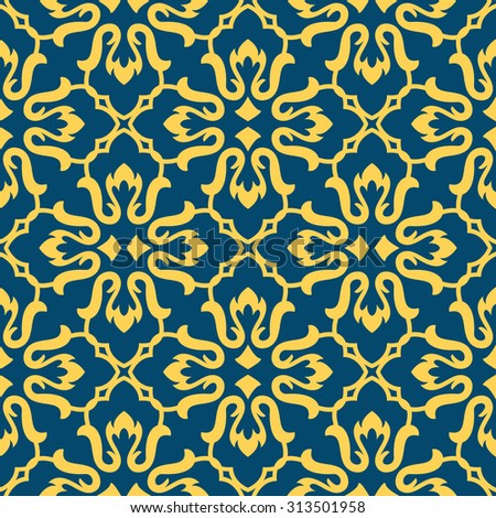 Oriental style Islam seamless pattern. For a holiday of Ramadan Mubarak background  - stock photo