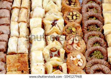 Oriental sweets - stock photo