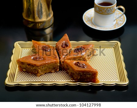 Oriental sweets baklava - stock photo