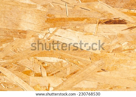 Oriented strand board (OSB), also known as sterling board, sterling OSB, aspenite, and smartply - stock photo