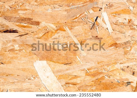 Oriented strand board (OSB), also known as sterling OSB, sterling board, aspenite, and smartply - stock photo