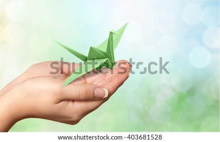 Origami. - stock photo