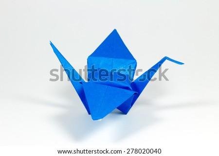 Origami Bird Isolated. - stock photo