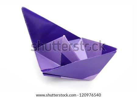 Origami boat of papercraft