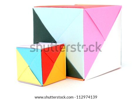 Origami Boxes Stock Photo Edit Now 112974139 Shutterstock