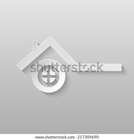 Origami energy icon. - stock photo