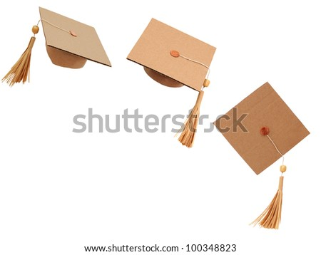 Origami hats in happiness graduation
