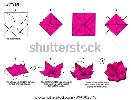 Инструкция оригами цветы