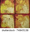 Original acrylic abstract painting mixed media on canvas painted by the photographer. - stock photo