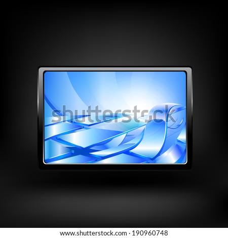 Original design of Tablet computer. Raster copy. - stock photo