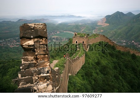 original ecology of the great wall pass in north china