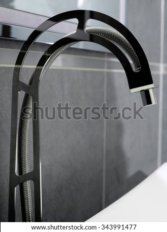 Original faucet made with metal structure and wire