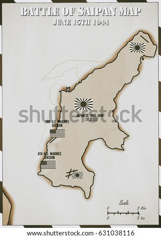 Original hand drawn map us invasion stock illustration 631038116 original hand drawn map us invasion of japanese occupied saipan in world war 2 gumiabroncs