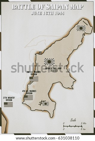 Original hand drawn map us invasion stock illustration 631038110 original hand drawn map us invasion of japanese occupied saipan in world war 2 gumiabroncs Choice Image