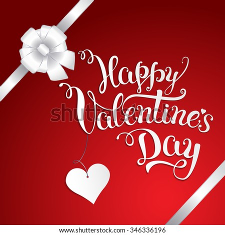 Original Hand Lettering Happy Valentines Day Stock Illustration ...