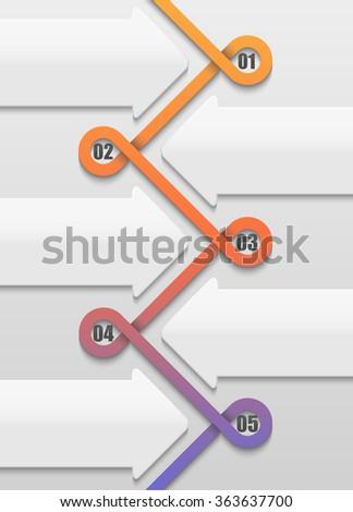 original infographic / abstract swirl of data / design element  - stock photo
