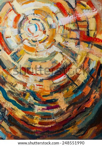 Original oil painting on canvas. Abstracts,the art - stock photo