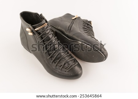 Original sport shoes, boots - stock photo