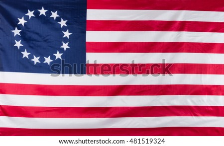 Original 13 star colony flag of United States