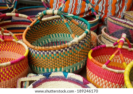Original style Ghanaian basketry, Ghana, West Africa