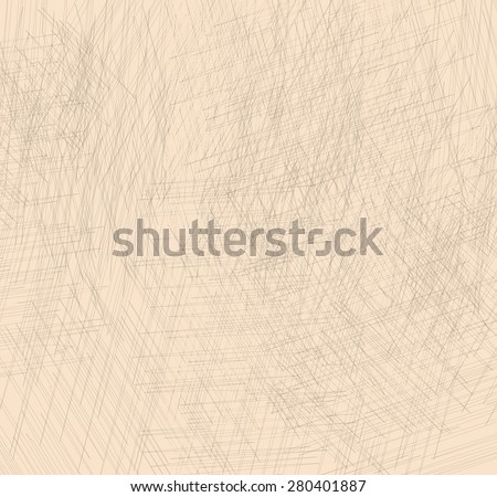 Original stylish backdrop of gray chaotic lines on a beige background.