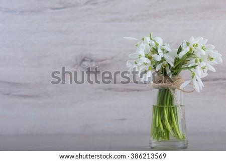 Original Wedding Floral Decoration Form Minivases Stock Photo