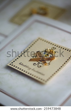 Original wedding invitation cards - stock photo