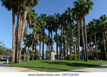 ORIHUELA COSTA, SPAIN - OCTOBER 7, 2014: Golf club in Orihuela Costa. Orihuela Costa is recognized as the most ecological clean region of Europe, famous for its clean beaches and golf courses.