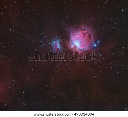 Orion molecular cloud complex in the constellation Orion