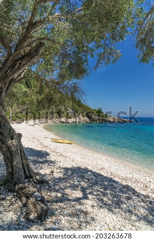 Orkos Beach on the Island of Paxos