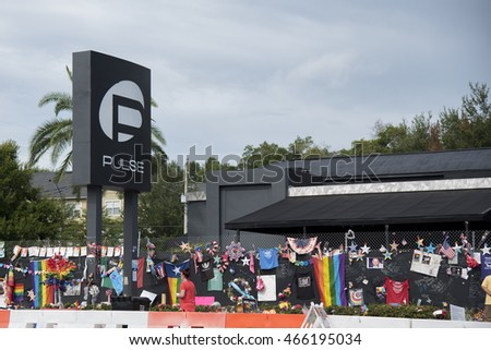 Orlando Florida - August 9th 2016, Pulse Nightclub Memorial: Orlando Florida Pulse nightclub massacre memorial planned