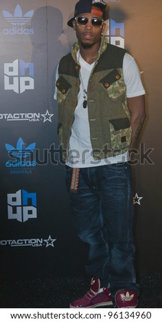 ORLANDO, FLORIDA - FEB. 24: Rapper B.O.B attends the VIP All-Star party hosted by Dwight Howard and Adidas.  Feb. 24, 2012 in Orlando Florida.